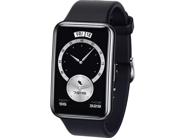 HUAWEI Watch FIT Elegant Edition Smartwatch schwarz oder weiß, bis 10 Tage Akku, SpO2, 96 Trainingsmodi [Amazon Prime & Saturn)