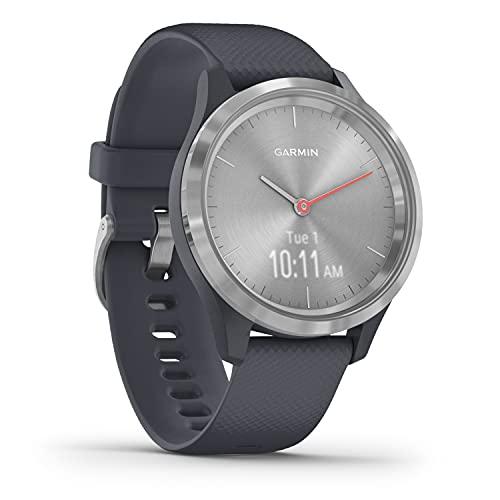 [Prime] Garmin vívomove 3S – schlanke, stilvolle Hybrid-Smartwatch mit analogen Zeigern & OLED-Display für schmale Handgelenke, Sport-Apps