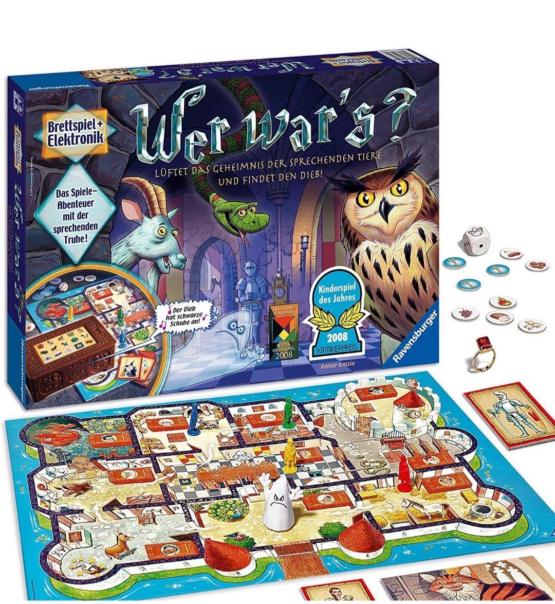[Prime Day] Ravensburger Kinderspiel Wer war's, Kinderspiel des Jahres, für 2-4 Spieler, ab 6 Jahren