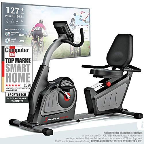 Sportstech ES600 Profi Liegeergometer + ergonomischer Sitzkomfort