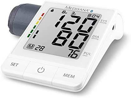 Medisana BU 530 connect Oberarm-Blutdruckmessgerät ohne Kabel, Arrhythmie-Anzeige, WHO-Ampel-Farbskala [Prime]