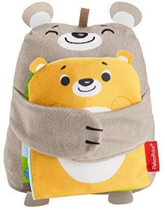 Fisher-Price GJD37 - Babys weiches Kuschelbuch, Plüschtier-Spielzeug für Babys ab 3 Monaten [Prime Day]