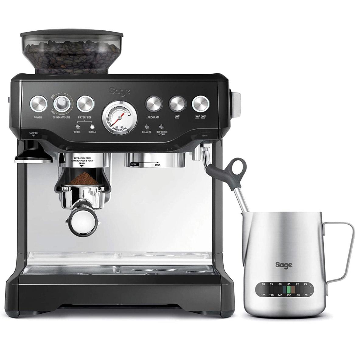Sage Barista Espressomaschine Express Schwarz Primeday + 50€Gutschein