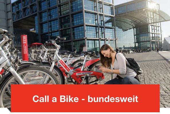 Call a bike, bis 30.09.2021: Bahn-Mieträder für 5 € statt 9 € je 24 Std. (mit Komforttarif)