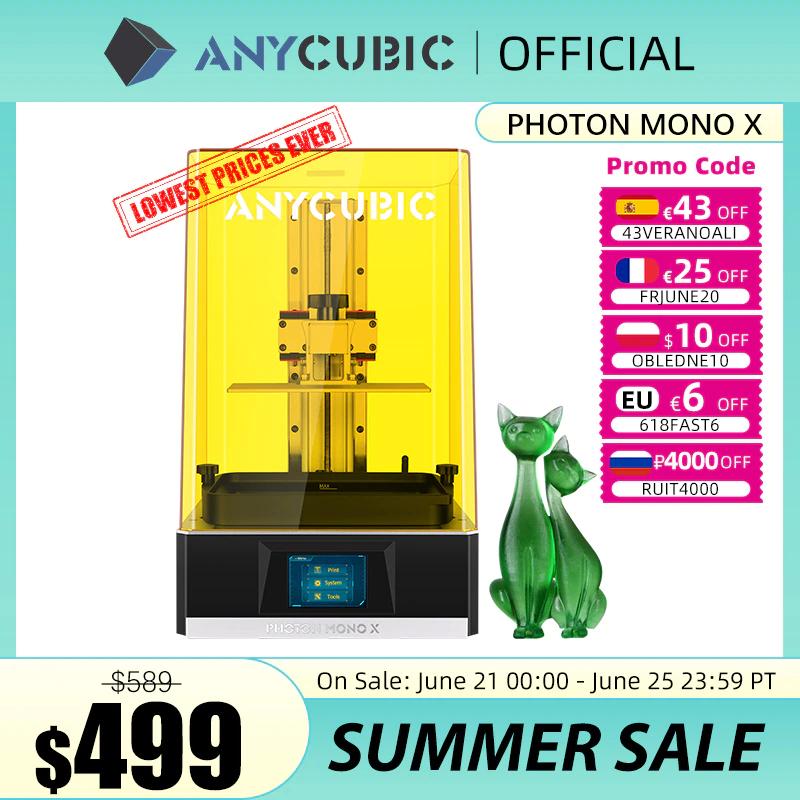 Anycubic Photon Mono X 3D-Drucker SLA/LCD für 428,75€