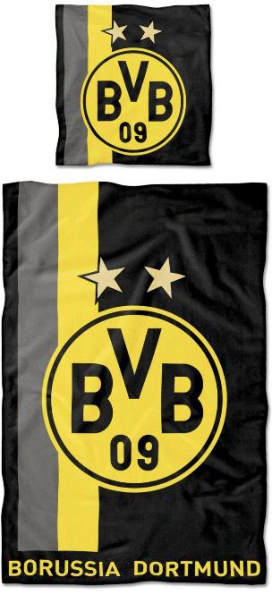 [amazon Prime] Borussia Dortmund BVB-Bettwäsche mit Streifenmuster