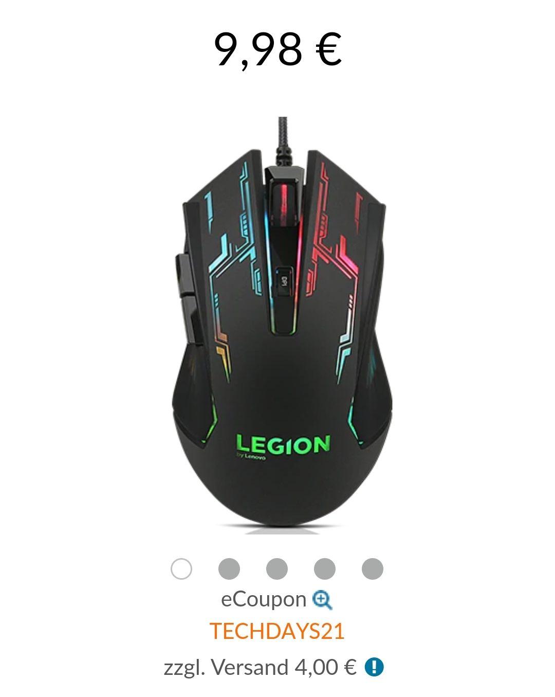 Lenovo Legion M200 Gaming Maus kabelgebunden