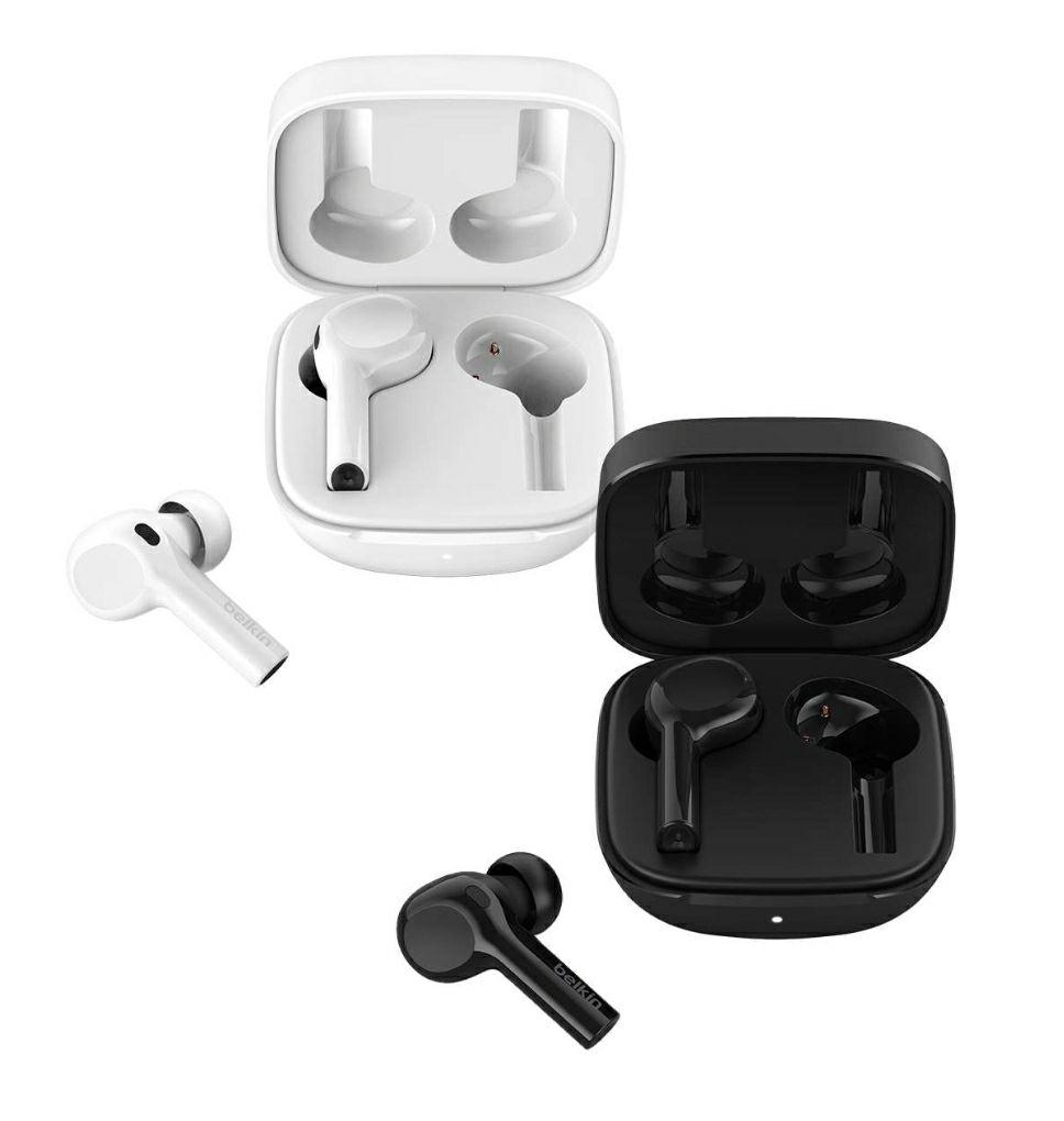 """Belkin Soundform Freedom True Wireless In-Ear-Kopfhörer für Android und iOS mit """"Wo ist""""-Ortung von Apple in schwarz oder weiß"""