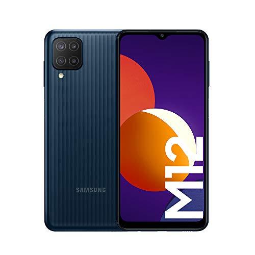 [PRIME] Samsung Galaxy M12(4/64) Smartphone 6,5'' , erweiterbarem Speicher, 5000 mAh Schwarz (ES Version)