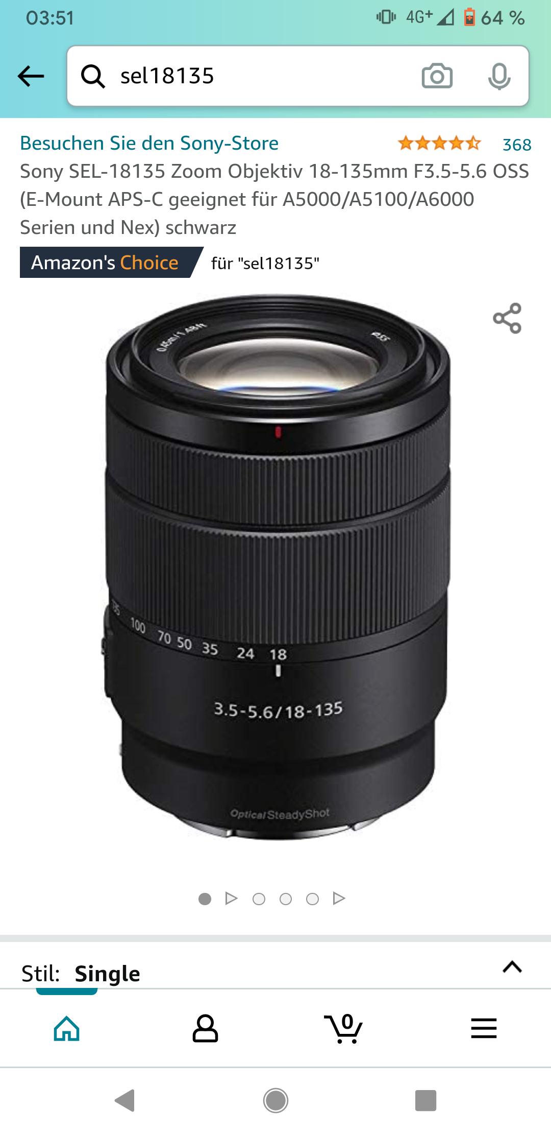 Sony SEL 18-135 Zoom Objektiv E-Mount