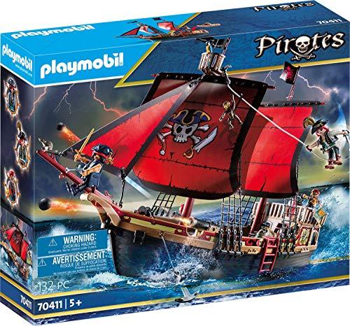 [Prime] Playmobil Pirates 70411 Totenkopf-Kampfschiff, Ab 5 Jahren