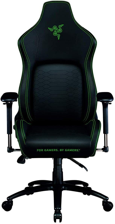 Razer Iskur - Premium Gaming-Stuhl mit integrierter Lendenwirbelstütze (Schreibtischstuhl / Bürostuhl, mehrlagiges Kunstleder