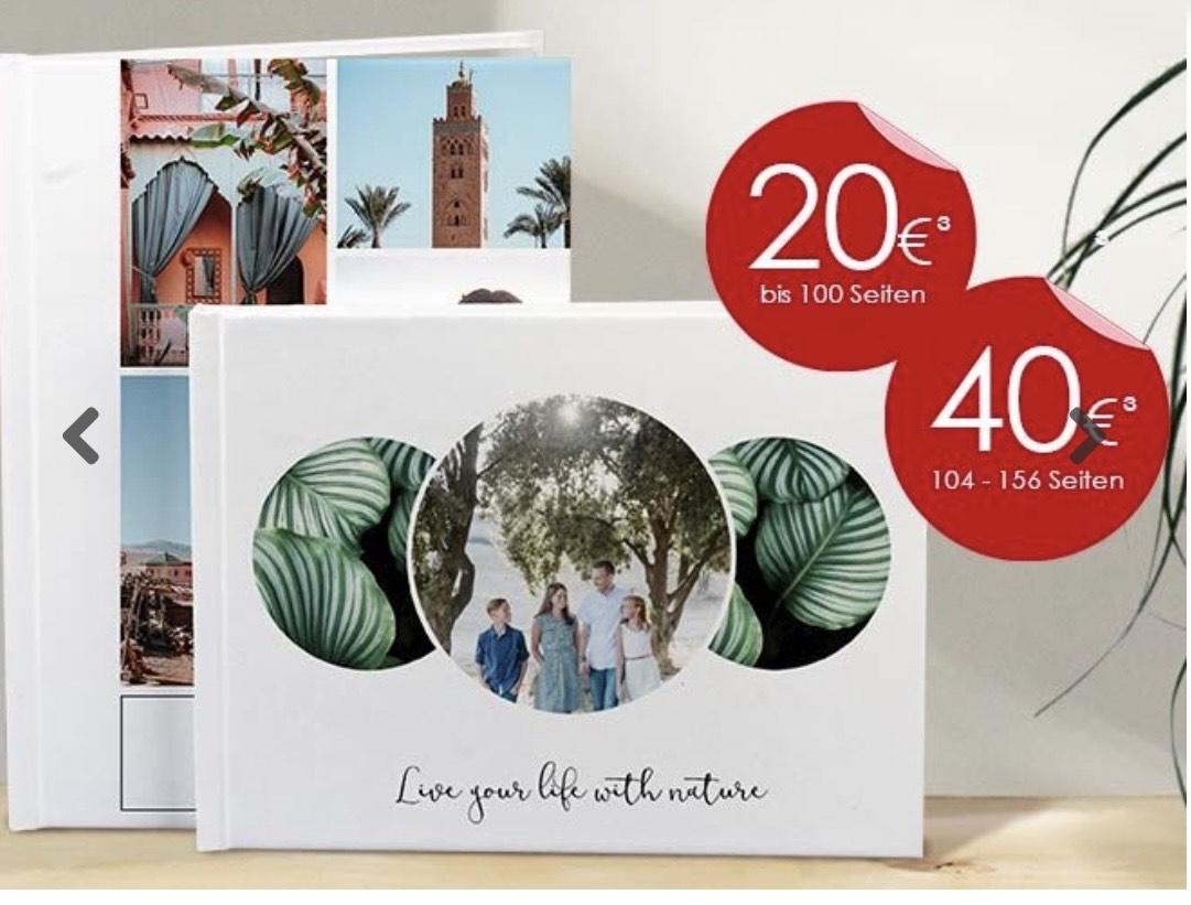 Fotobuch bis 100 Seiten für 20€ und für 156 Seiten 40€