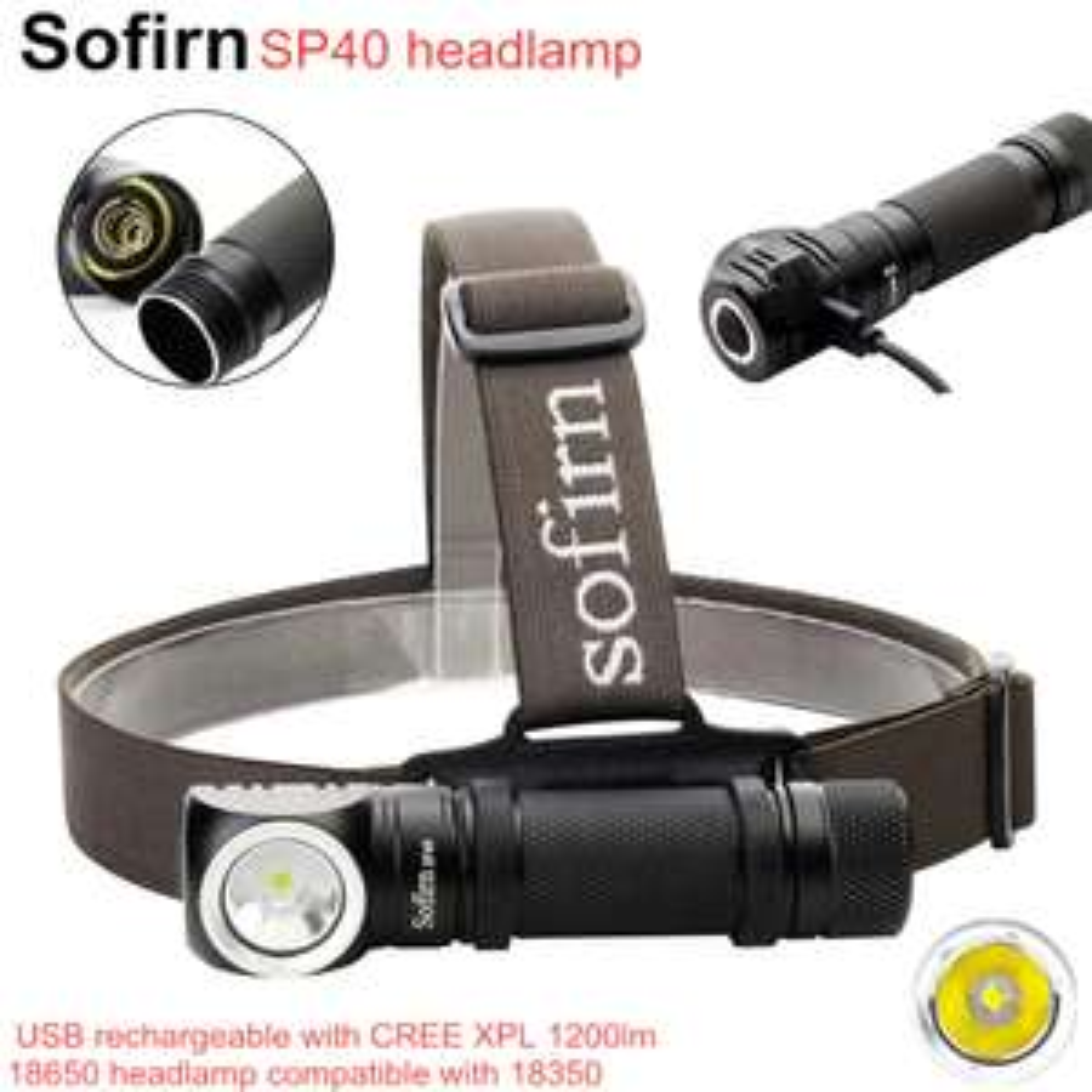 Sofirn Sp 40 Kopflampe, Taschenlampe