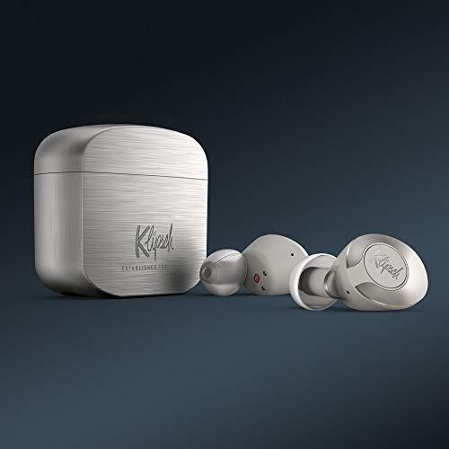 Klipsch, T5 II True Wireless in schwarz und silber, kabellose Kopfhörer, Bluetooth, Lange Akkulaufzeit, Gun Metal