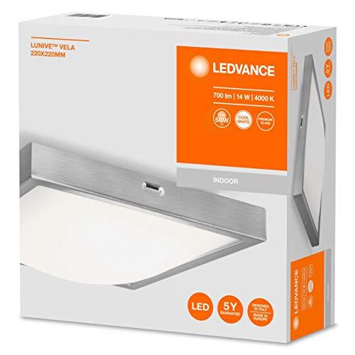 Amazon.de/Prime- LEDVANCE LED Wand- und Deckenleuchte, Leuchte für Innenanwendungen, Kaltweiß, 220,0 mm x 220,0 mm x 55,0 mm, Lunive Vela