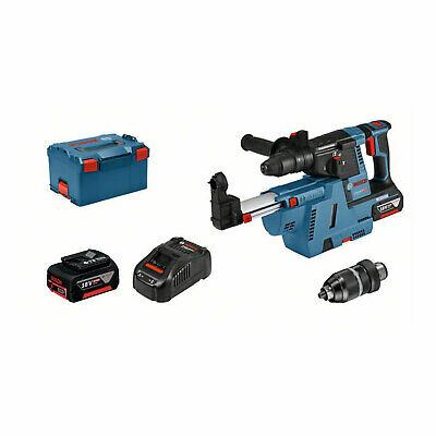 Bosch Professional GBH 18V-26F + GDE 18V-16 Akkubohrhammer 2x Akku 18V 6.0 Ah