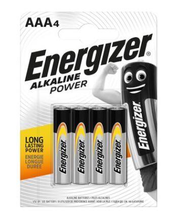 4er-Pack ENERGIZER BATTERIEN ALKALINE POWER Mignon (AA) oder Micro (AAA) für 1,55 Euro, weitere Energizer Batterie-Angebote [KODI-Filiale]