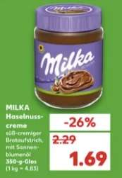 [Kaufland ab 05.07] Milka Haselnusscreme im 350g Glas für 1,69€