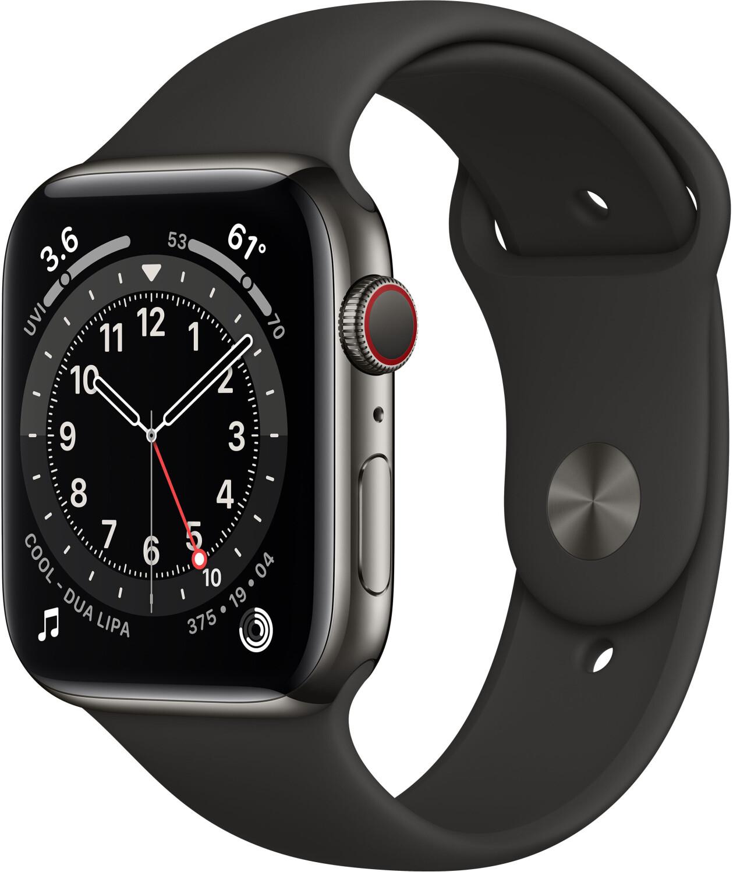 Apple Watch Series 6 (44mm) GPS+4G mit Sportarmband graphit/schwarz