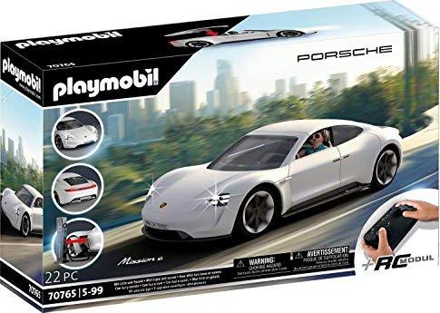 Playmobil Porsche Mission E (70765) mit RC-Modul (Fernsteuerung von Licht, Geschwindigkeit und Lenkung)