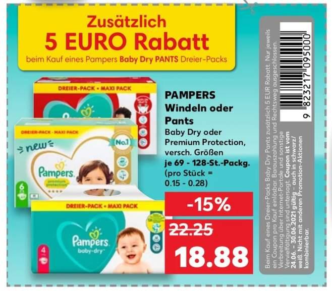 Pampers Pants 3er Pack mit Gutschein aus dem Kaufland Prospekt, Lokal im Kaufland