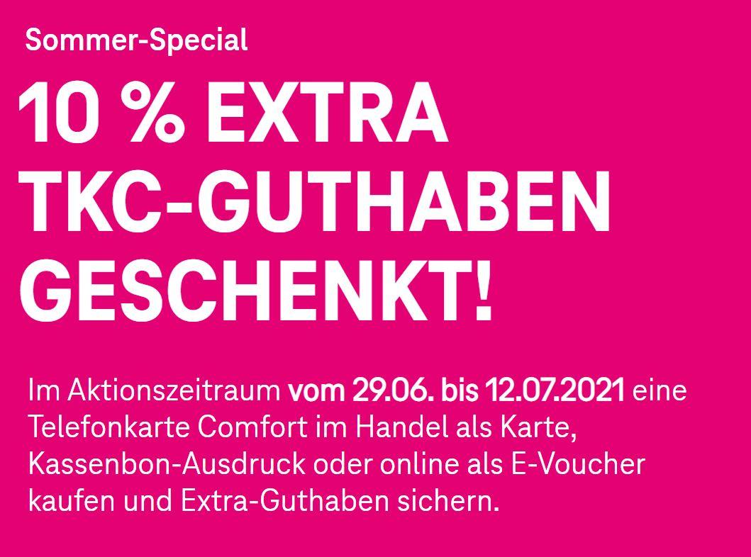 Telefonkarte Comfort (TKC) der Telekom mit 10% Extra Guthaben