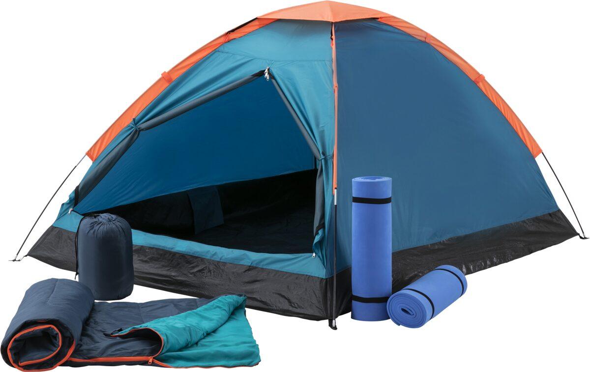 McKINLEY Kuppelzelt Festent Set mit je 2 Matten + Schlafsäcken