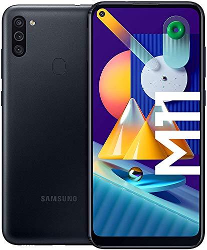 "Samsung Galaxy M11: 6.4"" HD+ Infinity-O Display, SnapDragon 450, 3GB, 32GB, Triple-Kamera, 5.000 mAh, Dual Sim 4G, USB-C, 3,5-mm-Klinke, NFC"