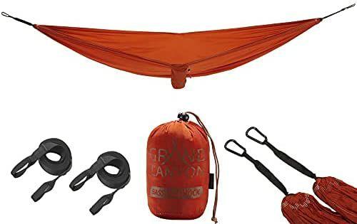 Grand Canyon BASS Hammock - Hängematte Outdoor bis 150 kg, 440g, mit 2 x 2,5m Gurtbänder und Baumschoner | Double 18,38€ [Amazon Prime]