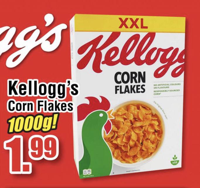 [Ter Huurne NL Lokal] Kellogg's Cornflakes 1000g