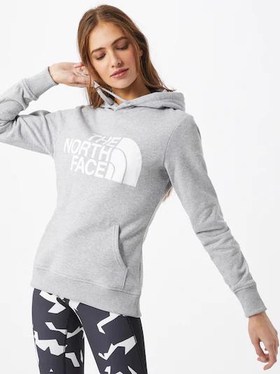 THE NORTH FACE Damen Sweatshirt 'STANDARD' in graumeliert / weiß aus reiner Baumwollen