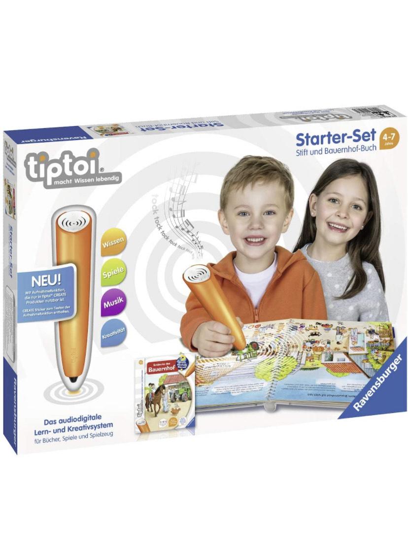 [Outlet Wolfsburg] Ravensburger tiptoi Starter-Set 00804: Stift und Bauernhof-Buch - Lernsystem für Kinder ab 4 Jahren