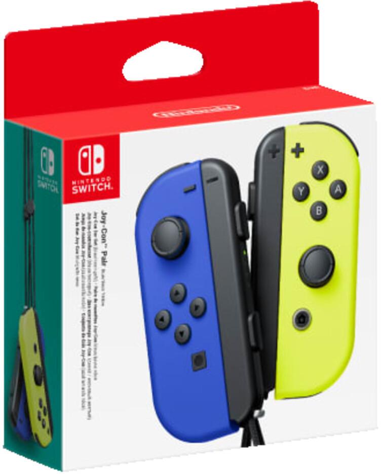Nintendo Switch Joy-Con 2er-Set Controller Blau/Neon-Gelb für 53,54€ bei Abholung