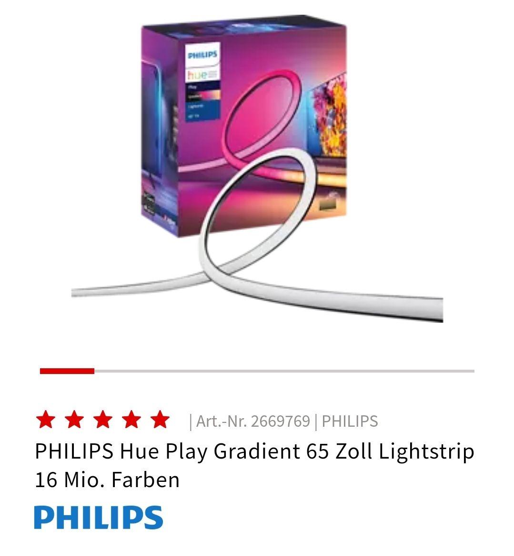 "Hue Play Gradient Lightstrip 65"""