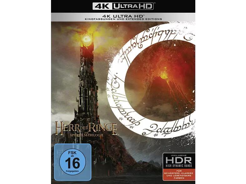 (MediaMarkt) Der Herr der Ringe oder der Hobbit Trilogie 4k UHD - Bestpreis