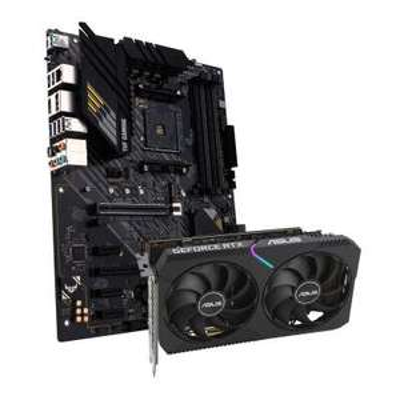 Asus DUAL Geforce RTX 3060 OC 12G Grafikkarte + ASUS TUF Gaming B550-Plus