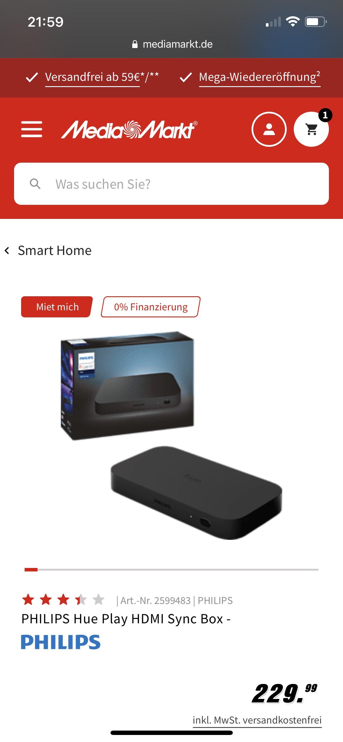 Philips Hue Sync Box [MediaMarkt]