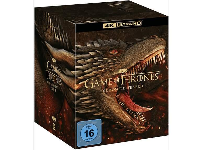 Game of Thrones - Die komplette Serie 4K Ultra HD Blu-ray (33 Discs) für 113,19€ inkl. Versandkosten