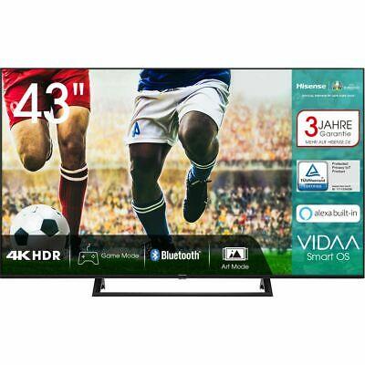 [ao / ebay] Hisense 43AE7200F 4K/UHD LED Fernseher 108 cm [43 Zoll] Smart TV HDR Schwarz