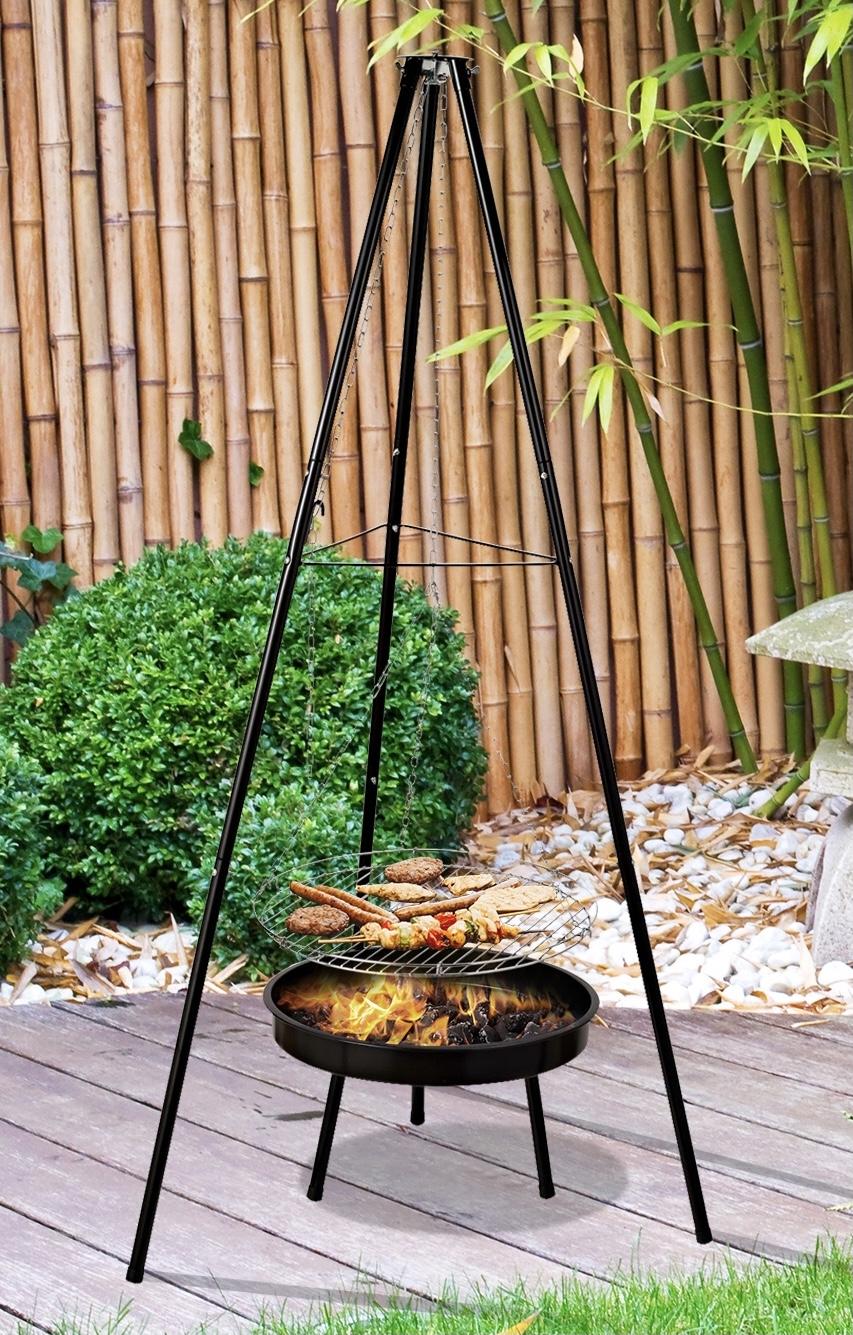 Holzkohlegrill Schwenkgrill mit Feuerschale höhenverstellbar für 17,91€ inkl. Versandkosten