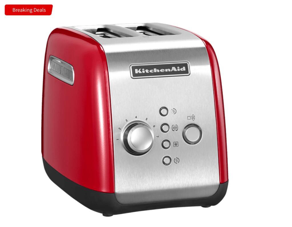 Kitchenaid 5KMT221EER Toaster Rot für 59,49€ / 5KEK1222EER Empire Red Wasserkocher für 59,49€ /5KFC3516EER Red Zerhacker für 53,99€ uvw.