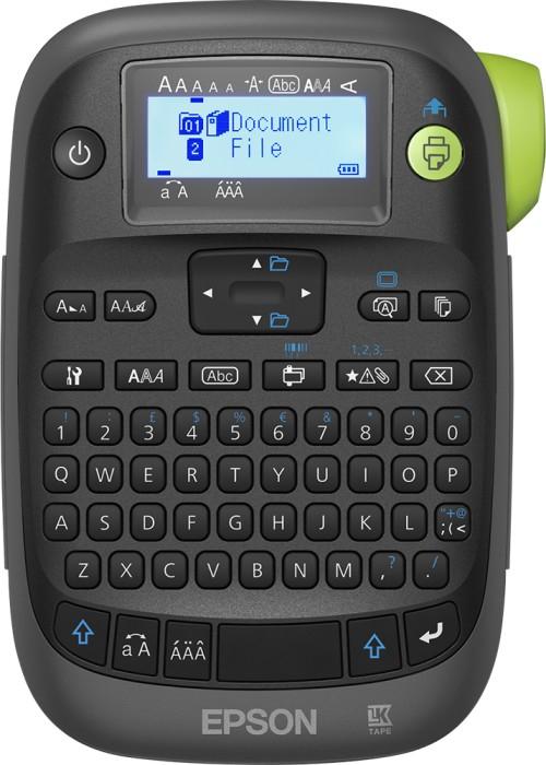 Epson LabelWorks LW-400VP Etikettendrucker (QWERTZ, 180 dpi, verschiedene Schriftarten, integrierter Speicher, Barcode-Druck, inkl. Koffer)