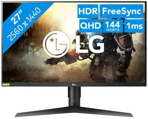 """[Coolblue] LG 27GL850-B [27""""] [WQHD] [144Hz] [IPS] [1ms]"""