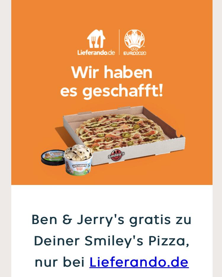 Ben & Jerry's gratis zu Deiner Smiley's Pizza