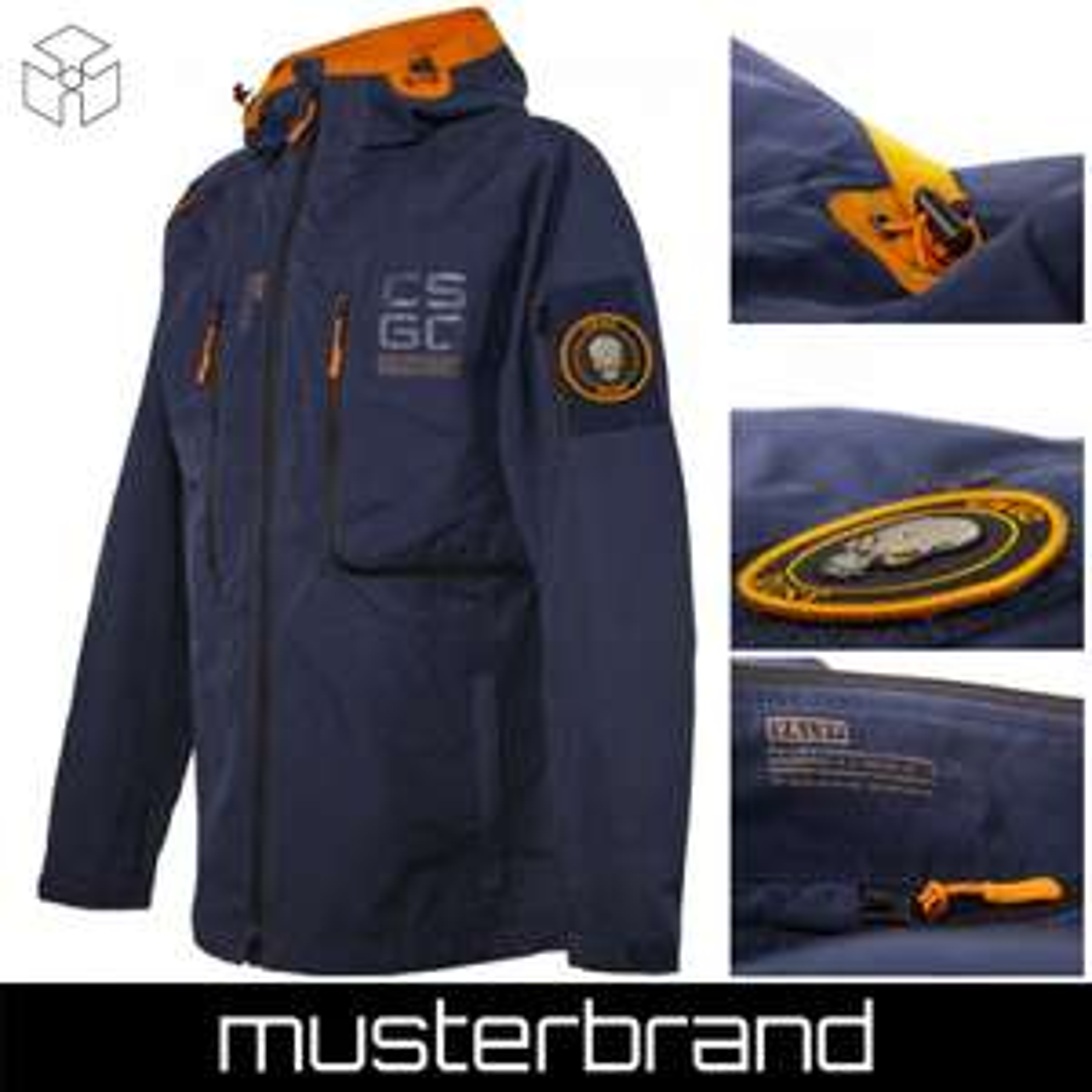 Musterbrand Counter-Strike Jacke Herren Hardshell Lightweight Rainjacket (Größen XS bis XL)