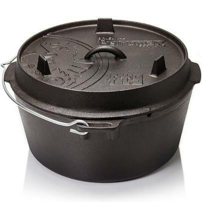 Petromax Feuertopf/Dutch Oven(ohne Füße), Größe 4,5 ft, Maße Außen 31,1 x 27 x 14,6 cm, 7,65 kg [funktionelles.de]