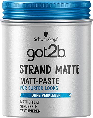 [Amazon 4 für 3 + Coupon + Sparabo] 4 Mal Schwarzkopf got2b Strandmatte Haarstyling Paste