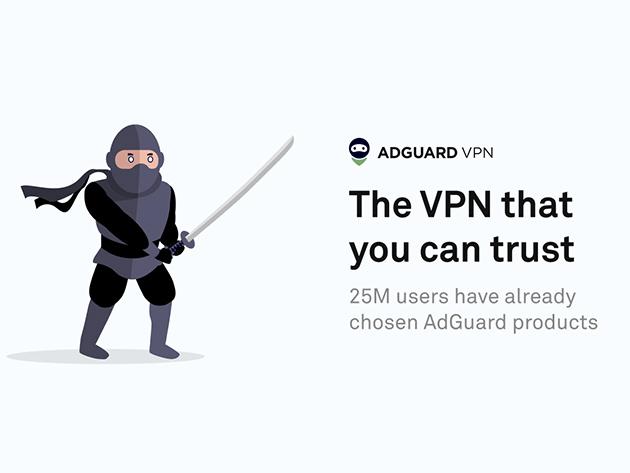 AdGuard VPN 5 Jahreslizenz für ca. 7€ pro Jahr