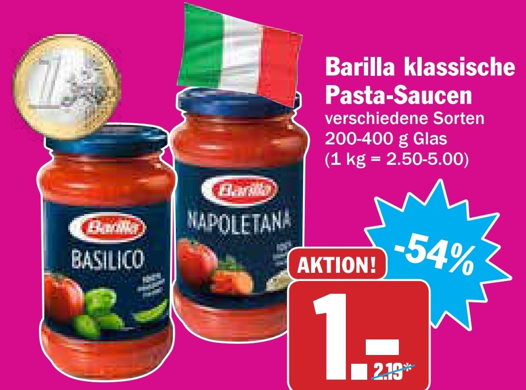 Barilla Pastasaucen am 02. Und 03. Juli bei Hit für 1€